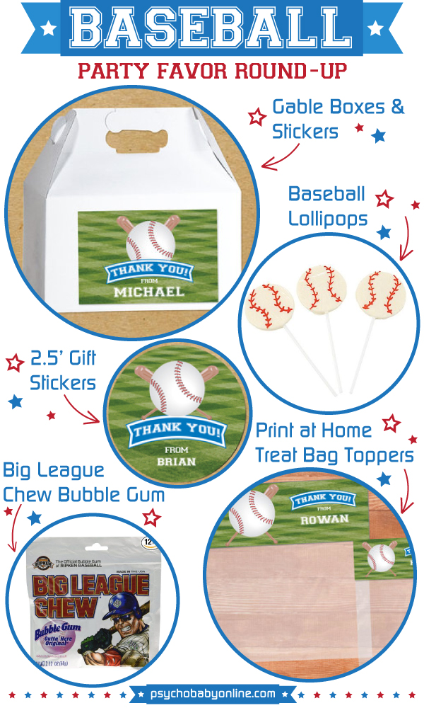 Baseball Birthday Party Favors & Ideas for Kids