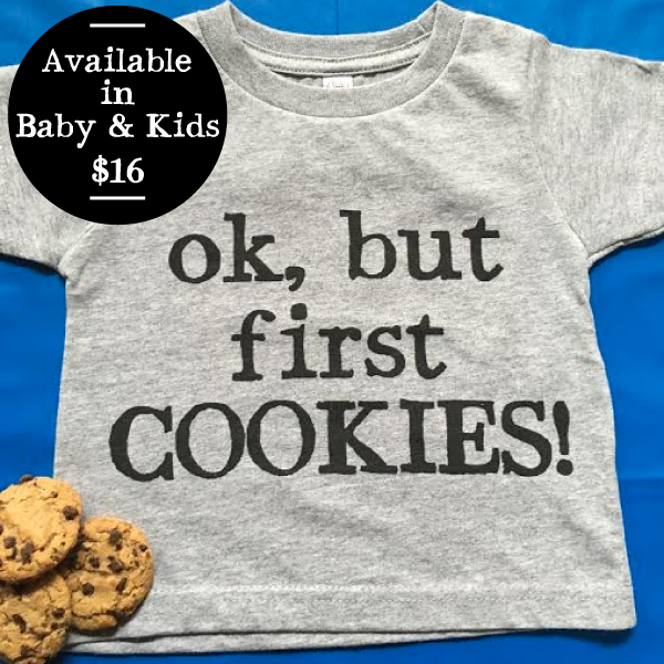 But First Cookies Kids T-Shirt