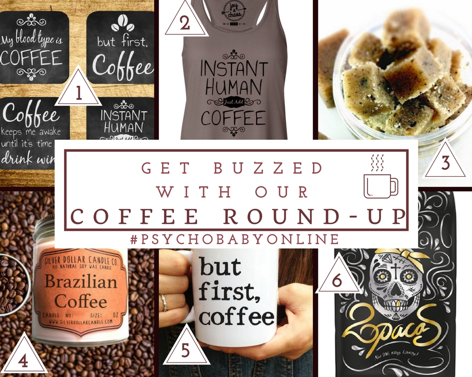 Funny coffee mugs, coffee coasters, coffee shirts and coffee gifts for the ultimate coffee lover in your life.