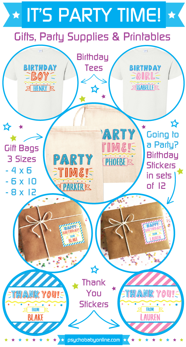 Personalized Birthday Party Supplies and Favors For Kids