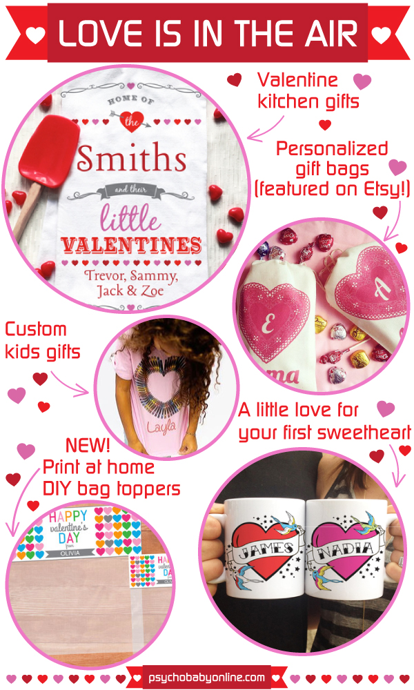 Personalized Valentine's Day Ideas for Babies, Kids, School & More